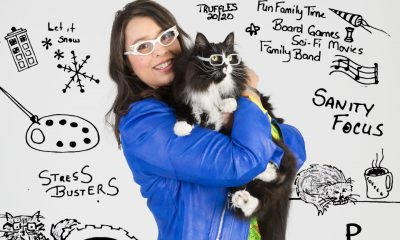 Danielle Crull and cat Truffles