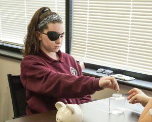 Dr. Steinhauer eye hand coordinations patient
