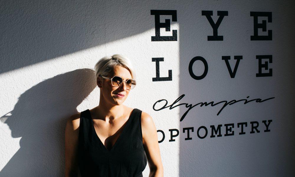 Eye Love Olympias lens cloth design