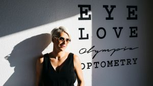 Eye Love Olympias lens cloth design