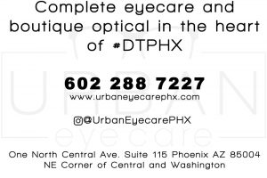 Urban Eyecare postcard back