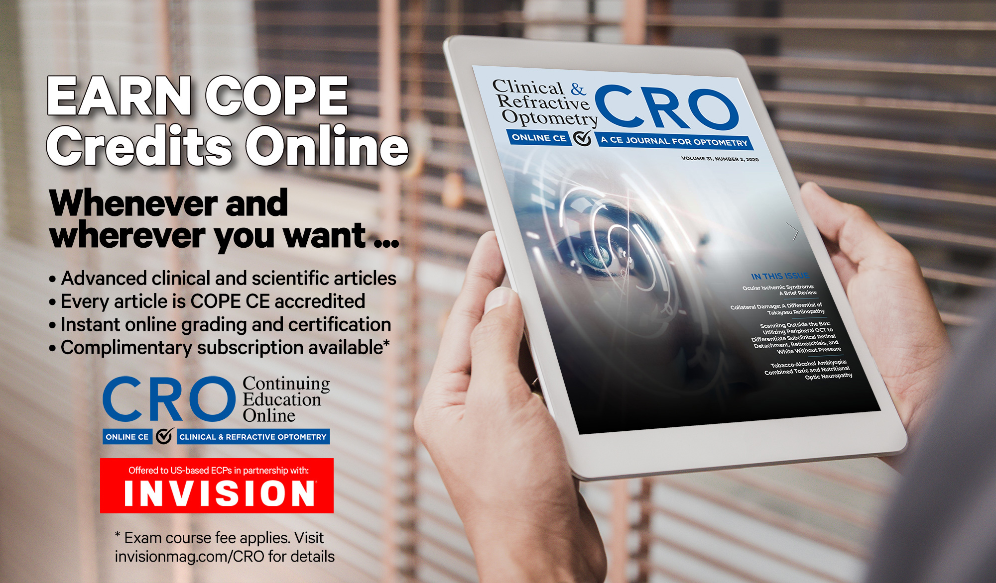 INVISION Partners with CRO Journal to Offer ECPs an Online CE Learning Platform