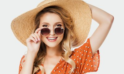 smiling lady wearing sunglasses