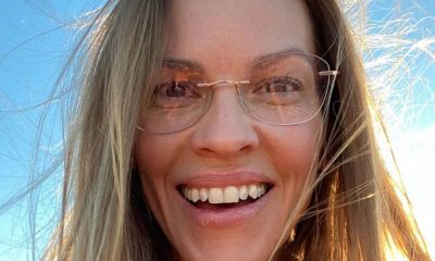 Hilary Swank in Silhouette eyeglasses