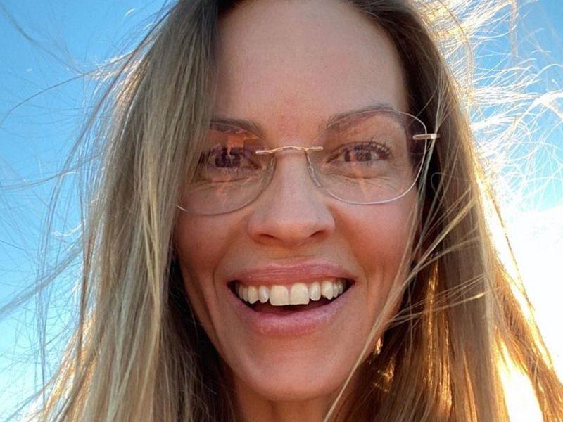 Hilary Swank in Silhouette eyeglasses