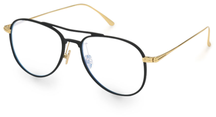 The Tom Ford eyewear collection features standard blue light blocking lenses