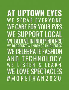 Uptown Eyes window art