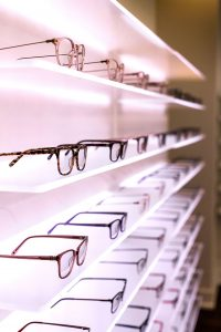 Elite Eye Care eyewear display