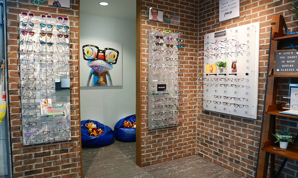 Kids waiting area at Premier Eyecare