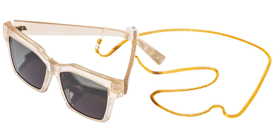 Karen Walker sunglasses with golden chain