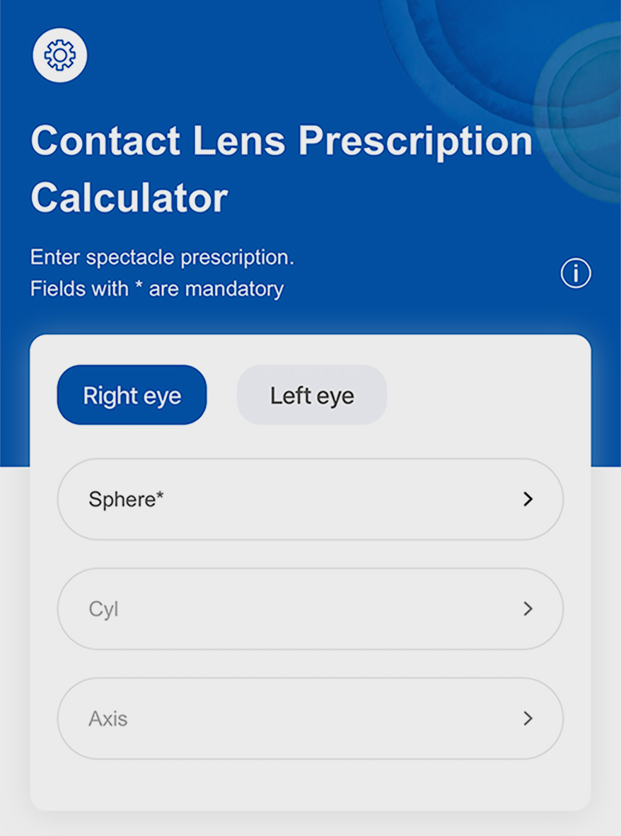 OptiExpert app from COOPERVISION