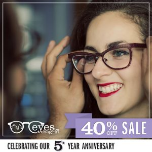Eyes on Chagrin 5th anniversary social post
