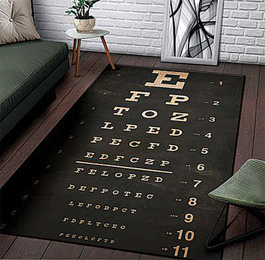 Rug Eye Chart from AMZITEE SHOES