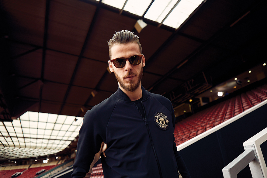 David De Gea wearing Maui Jim sunglasses