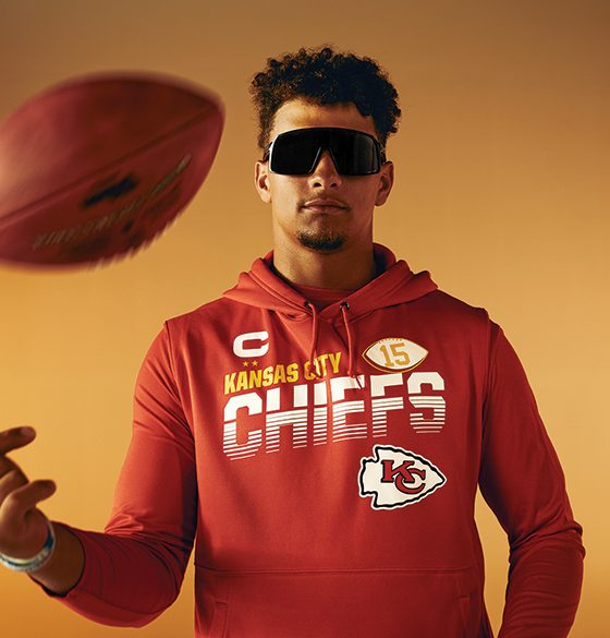 Super Bowl MVP Patrick Mahomes wearing Oakley sunglasses