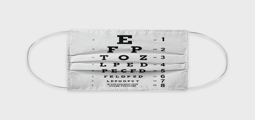 Snellen Chart masks from TEELICIOUS