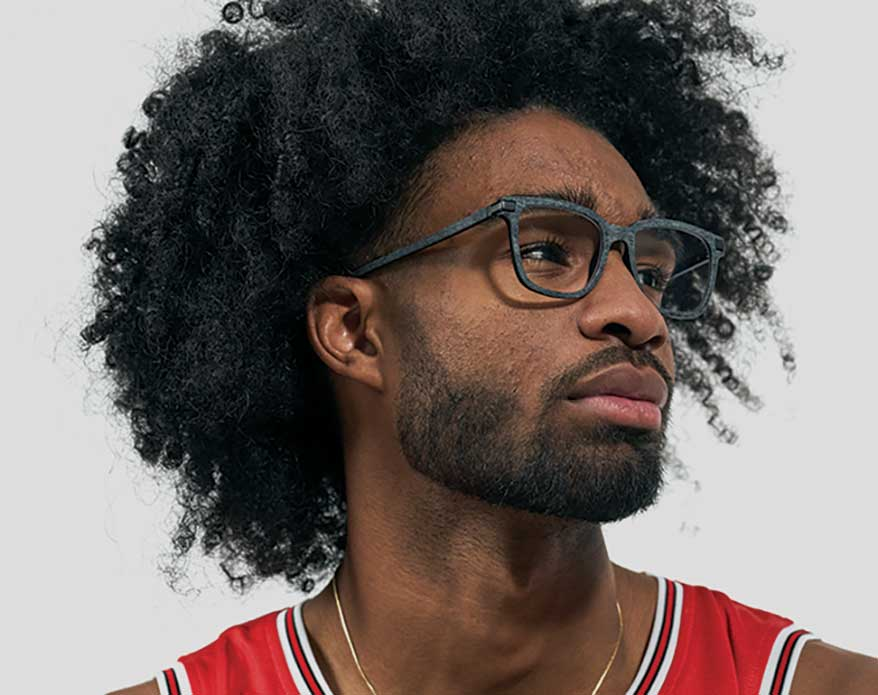 Coby White wearing Zenni eyewear