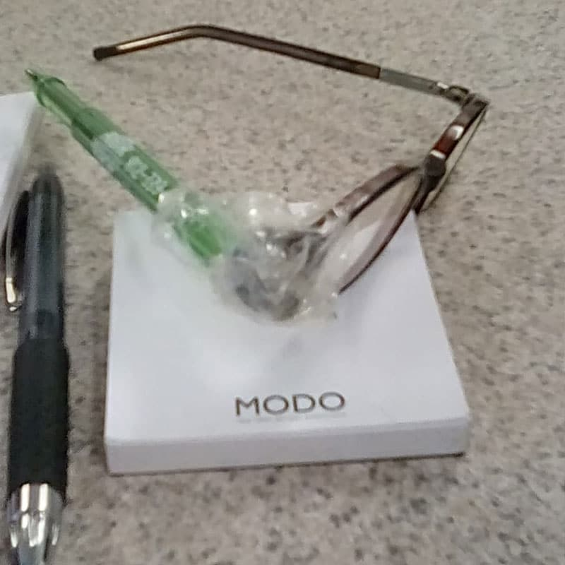 The Ink-Pen Temple … and More Highly Creative Home Eyewear Repairs From Your Clients