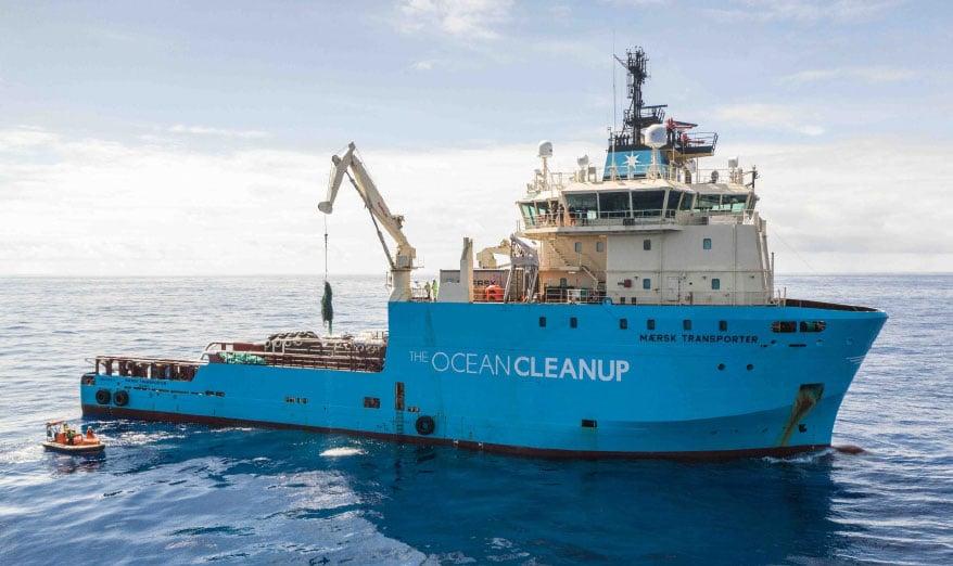The Ocean Clean Up ship