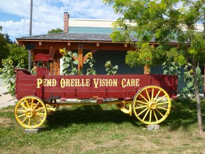 Pend Oreille Vision Care 2016 remodel complete with wagon