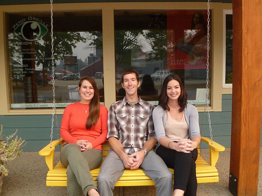 Danielle Tholl, Nate Harrell and Amber Prins
