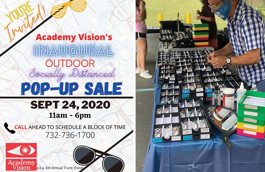 Academy Vision FB ad and trunk show