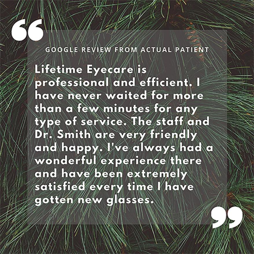 Lifetime Eyecare FB post sample
