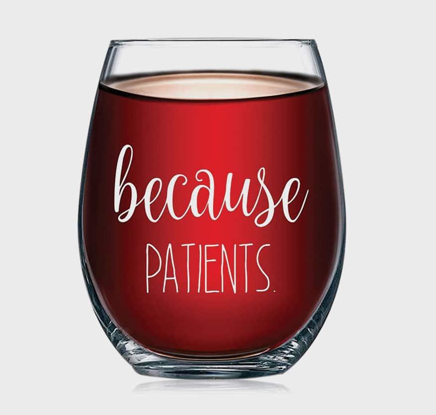 Optical Gifts wine glass