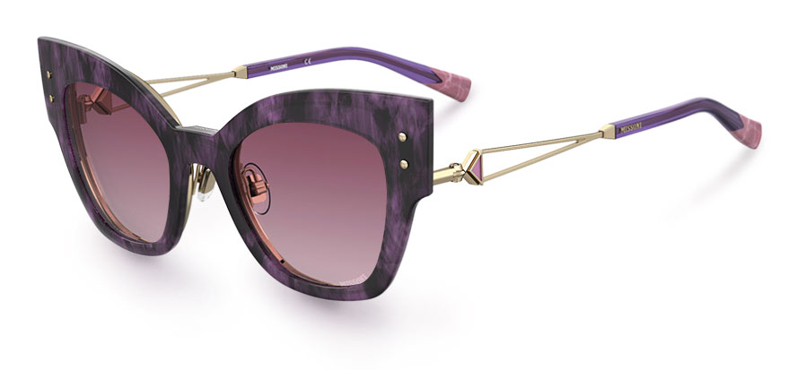 Missoni clip-in cat's eye sunglasses