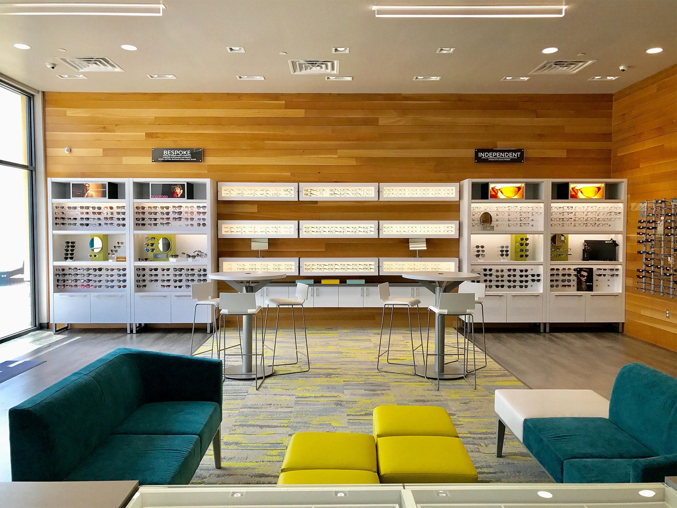 Clear Eye Associates + Optical interior in Fort Worth, TX