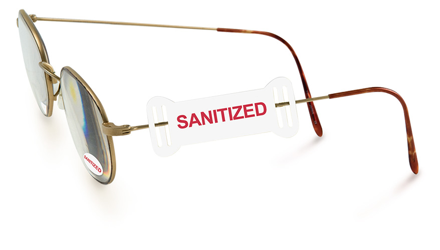 """""""Sanitized"""" Op-Tags and static cling vinyl labels"""