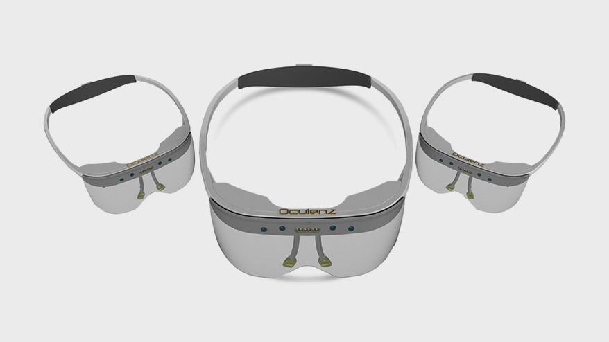 Oculenz ARWear headset for macular degeneration.