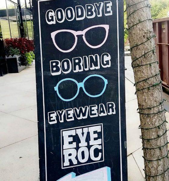 Eye Roc Eyewear signage