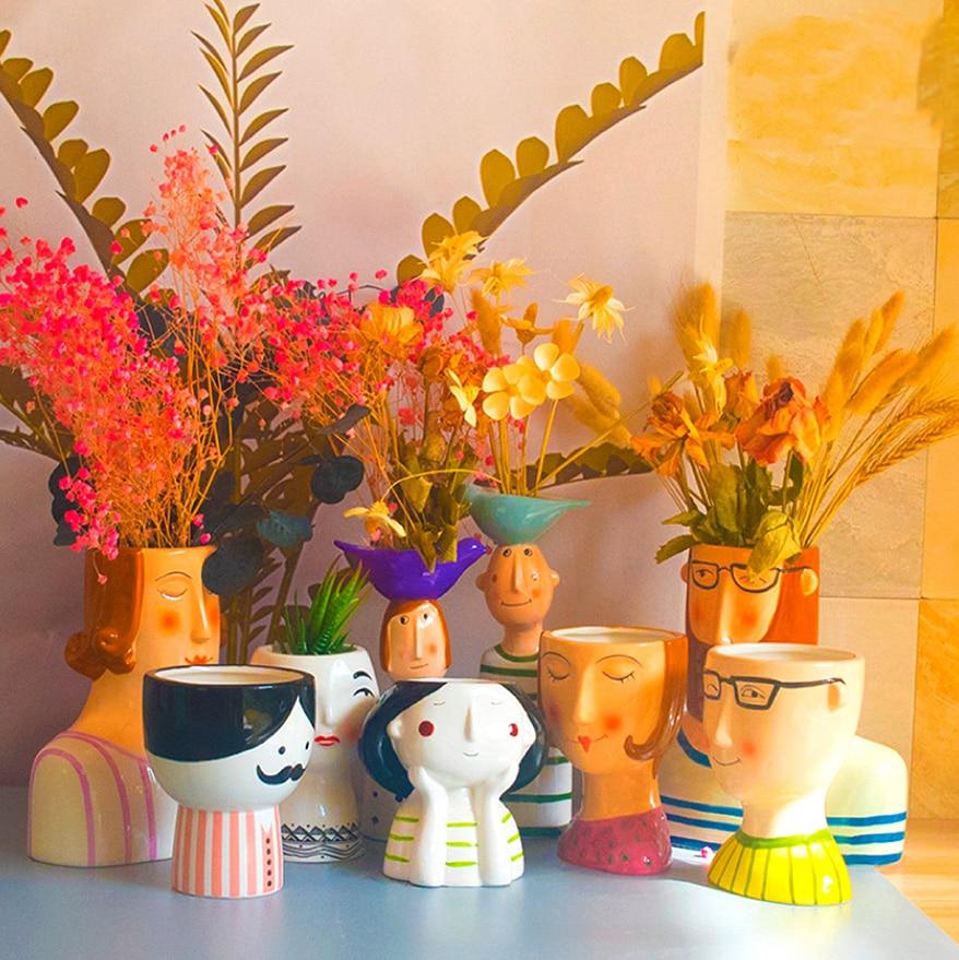 ceramic vases and planters