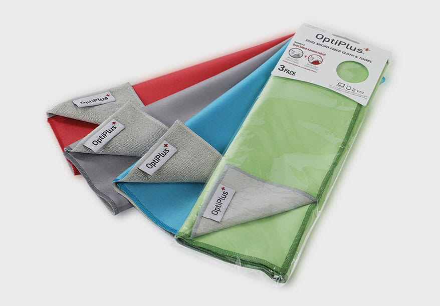 dual-sided OptiPlus Polish/Clean Microfiber Cloths from HILCO