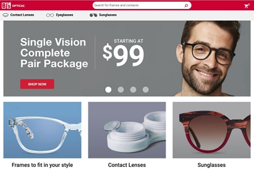 BJ's Launches New Virtual Experience for Eyewear Shoppers