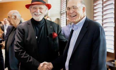Inventor, optometrist and philanthropist Herbert Wertheim has joined the Scripps Research Board of Directors. He is pictured here with chemist Peter Schultz, President and CEO of Scripps Research.