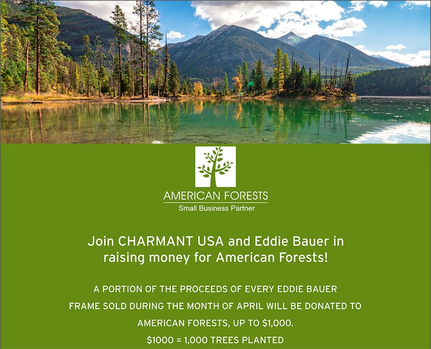 CHARMANT and Eddie Bauer Partner to Contribute to Reforestation