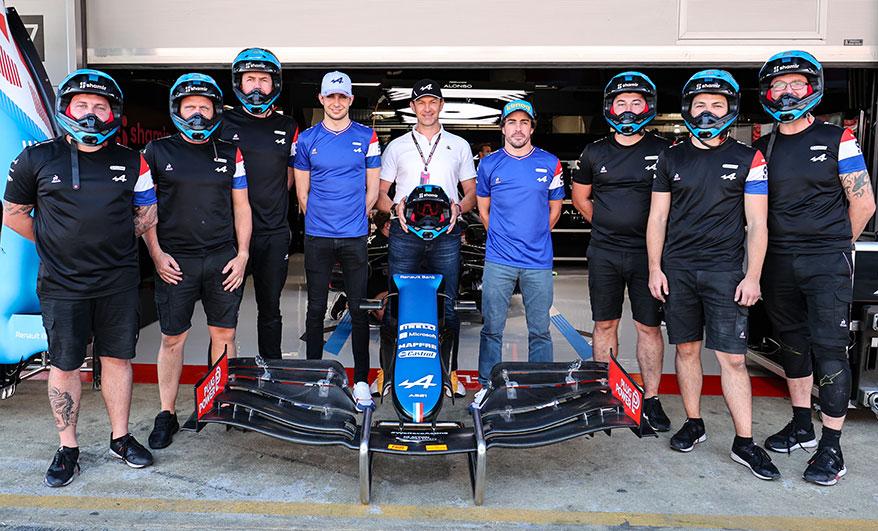 Shamir and Alpine F1 Team Form Unique Partnership