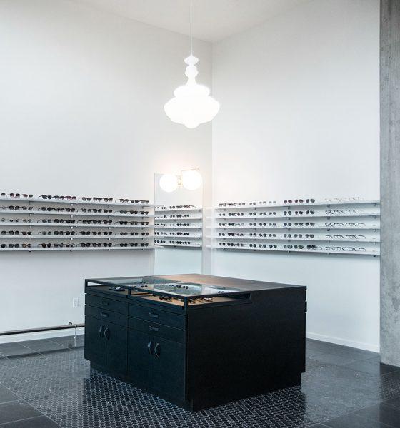 Black Optical interior