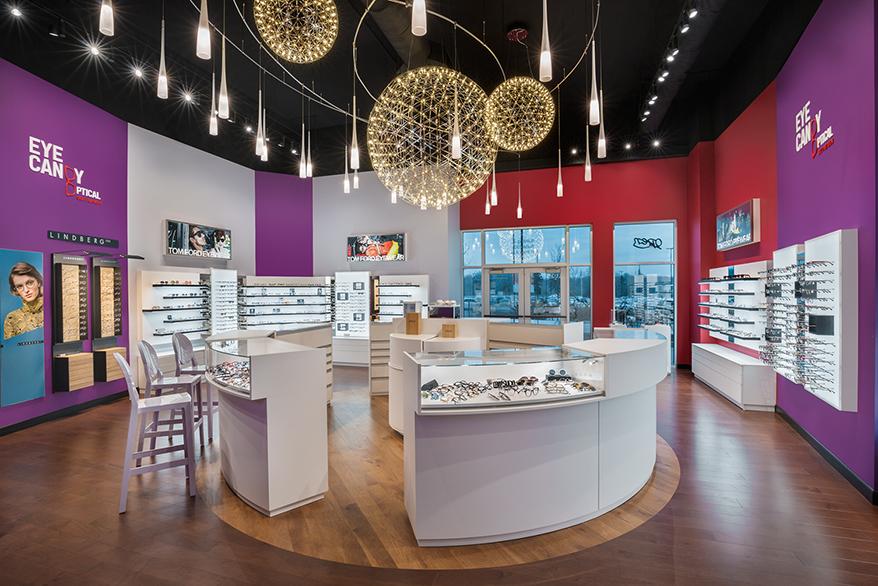 Eye Candy Optical Pinecrest interior