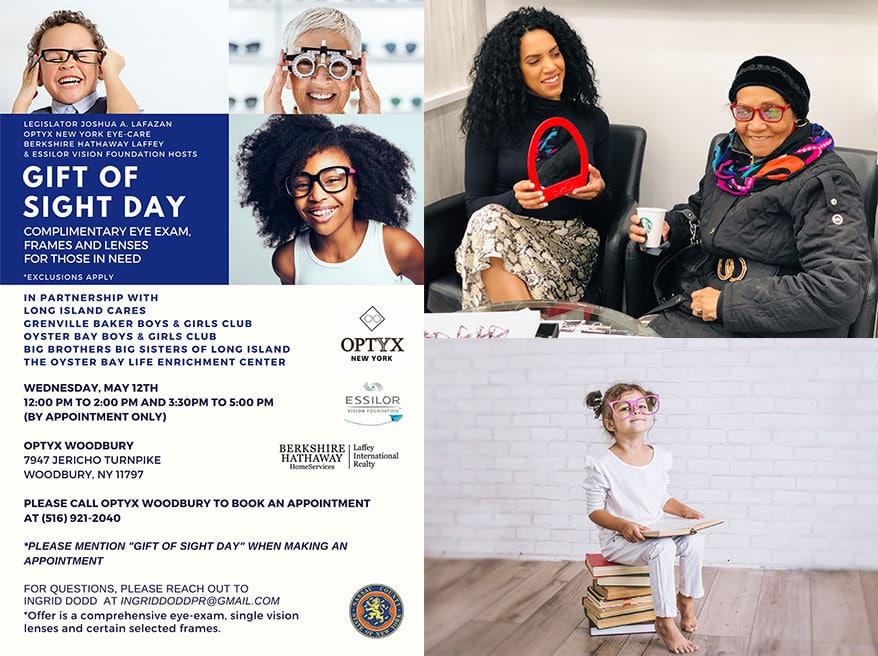Essilor Vision Foundation  Partners with  Legislator Lafazan, OPTYX New York Eye-Care  Berkshire Hathaway Laffey International