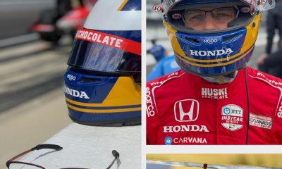 MODO Sponsors Indycar Driver Marcus Ericsson's Racing Glasses