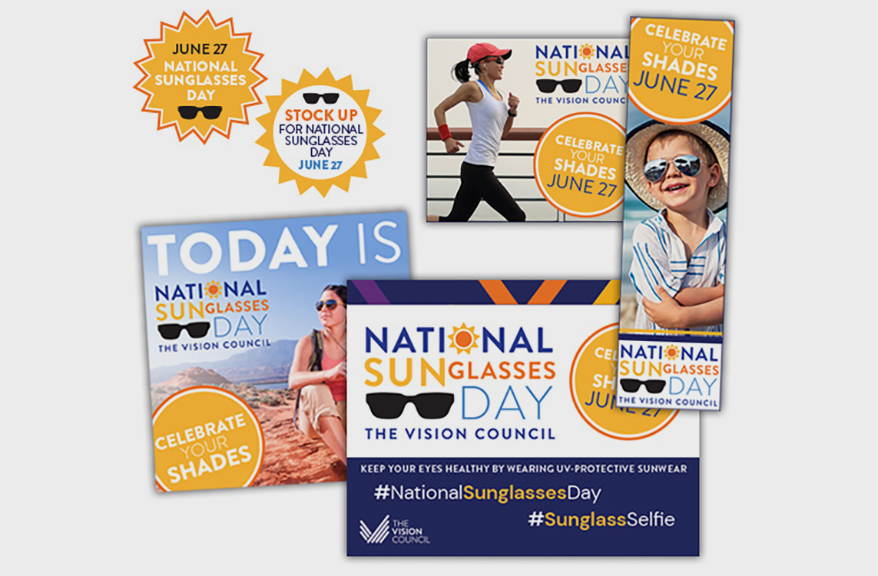 Get Ready for National Sunglasses Day on June 27: New Marketing Materials Available to Download