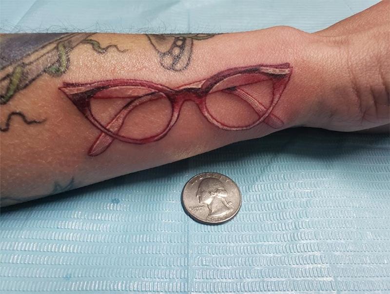 Inked Opticians: 19 ECPs Show Off Their Eyewear Tats