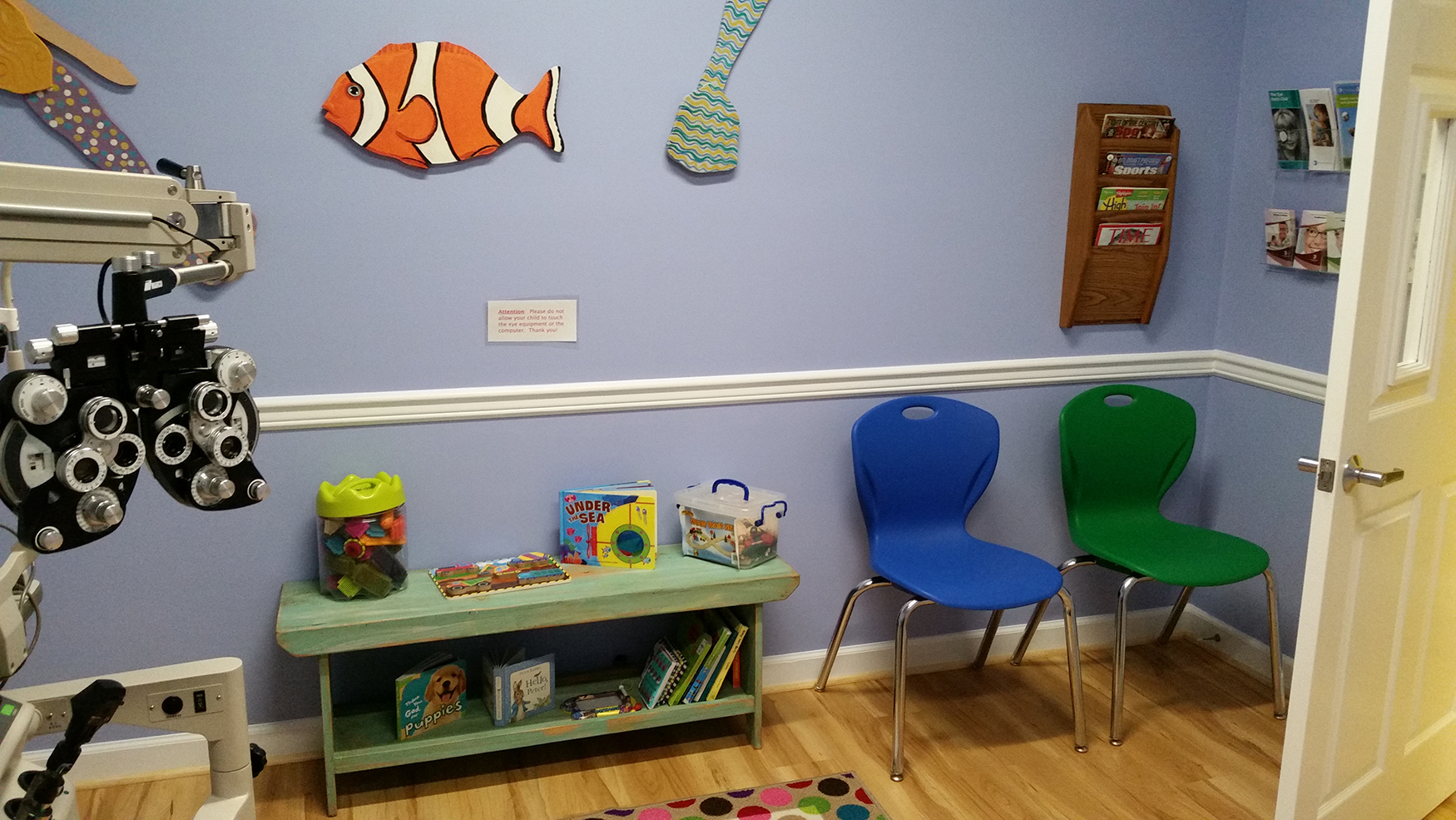 'Children want to feel relaxed in a comfortable atmosphere,' says Dr. Cathy Doty of SpecialEYES Pediatric Vision Clinic.