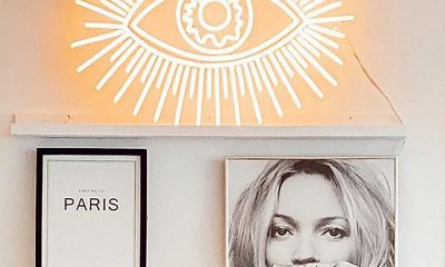 Golden Eye LED neon sign by JONATHAN ADLER and YELLOWPOP