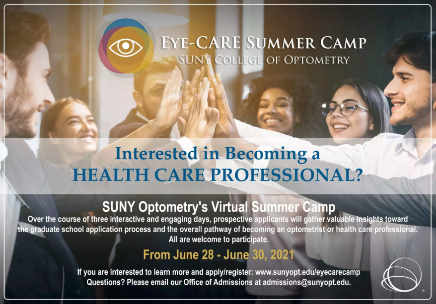 SUNY Optometry Partners with VSP Global to Launch Camp For Aspiring Eye Doctors