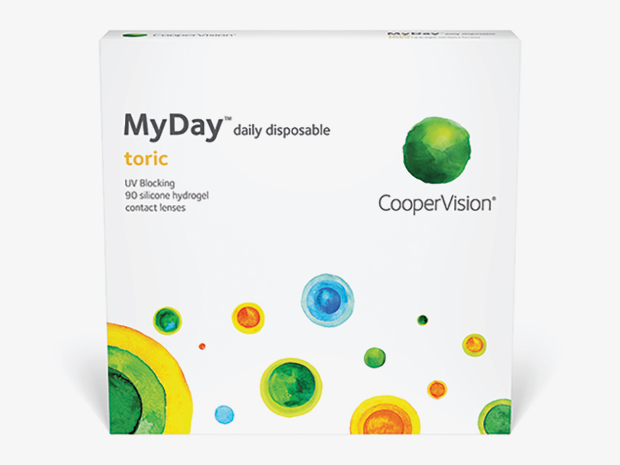 MyDay toric is a silicone hydrogel 1-day lens witharound-the-clock axesand 0.25D steps in plus powers.