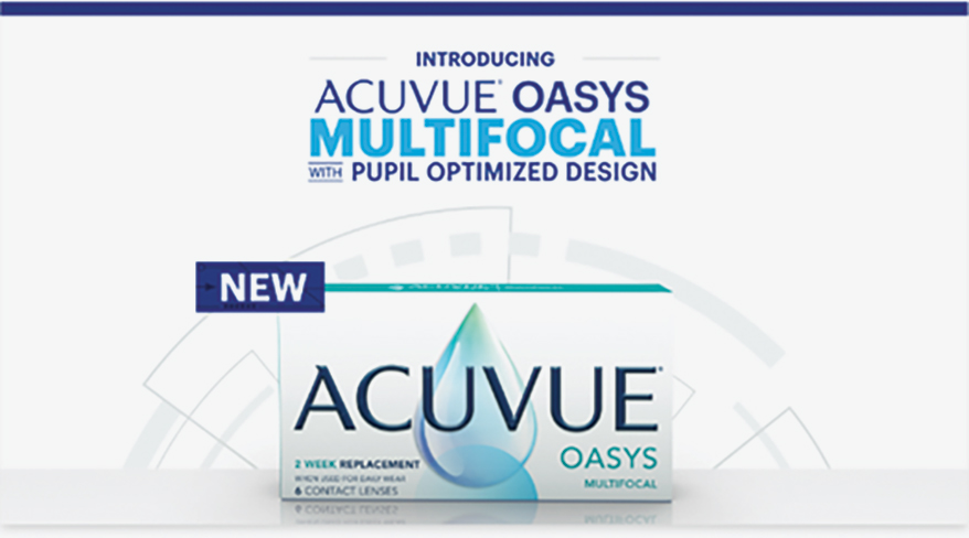 ACUVUE Multifocal with Optimized Pupil Design.